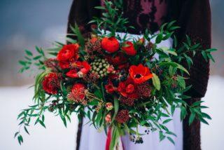 Brautstrauß in Rot