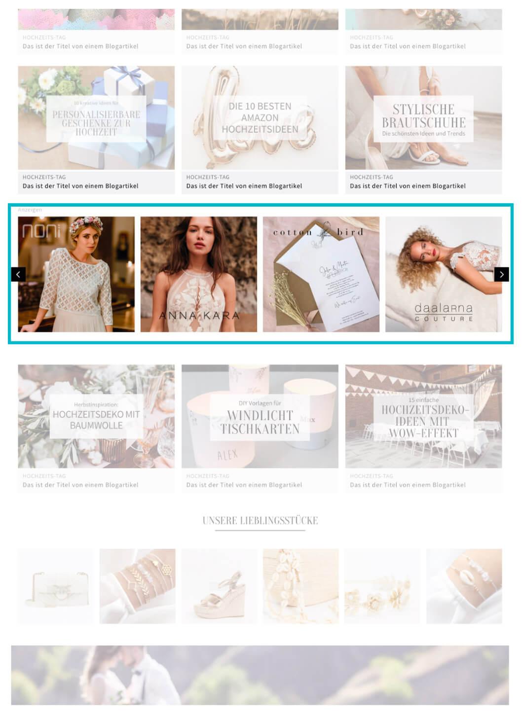 Hochzeitskiste Online Banner