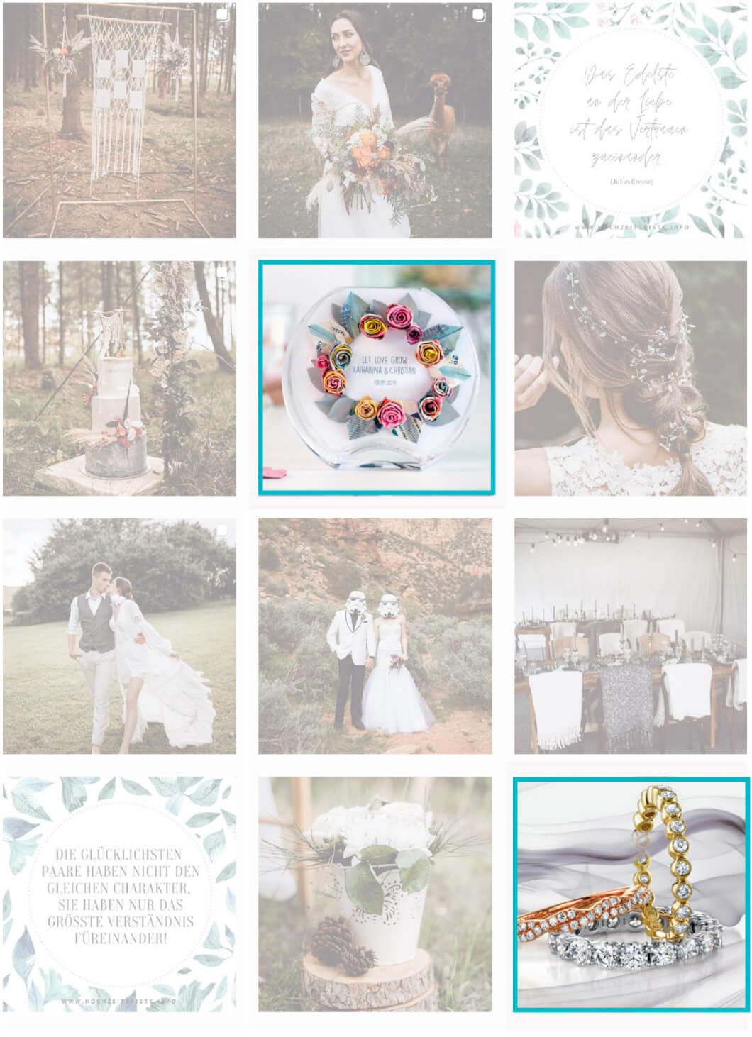 Hochzeitskiste Social Media