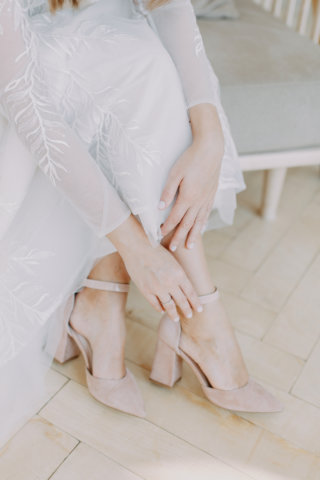 Brautschuhe nude