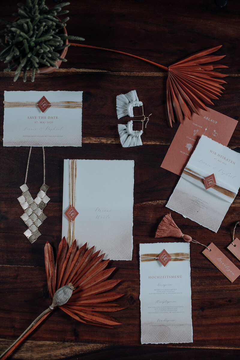 Terrakotta Hochzeitskarten