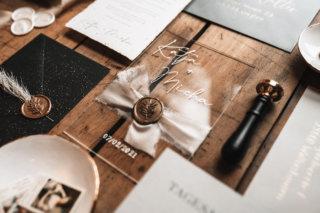 Acrylglas Einladung