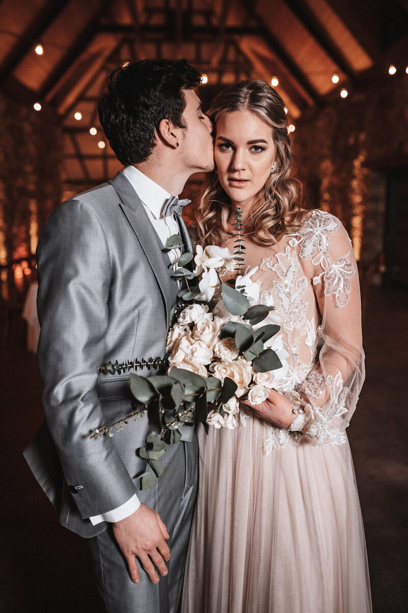 Modern chic Brautpaar