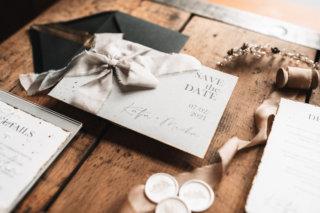 Save the Date Einladung elegant