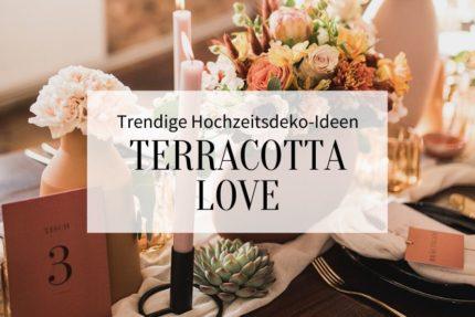 Terrakotta Hochzeitsdeko