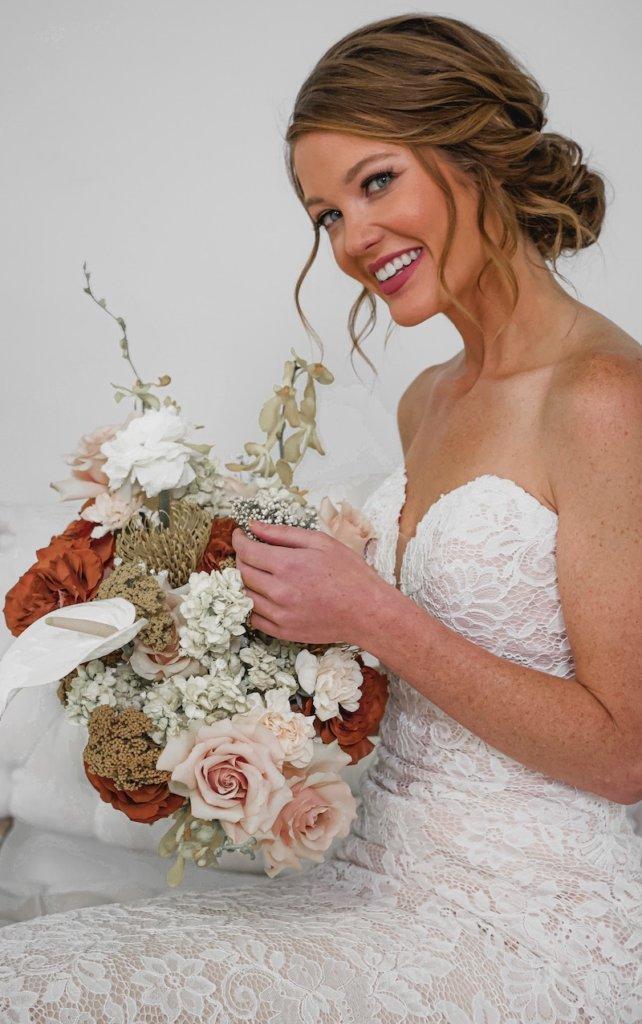 Brautfrisur hochgesteckt