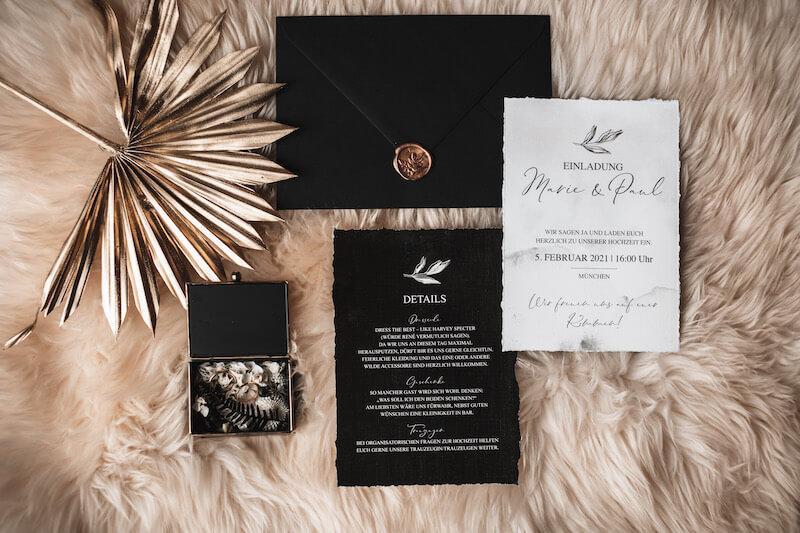 Hochzeitseinladung Elegant Rustic Wedding