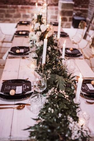 Tischdeko Dunkelgrün Elegant Rustic Wedding