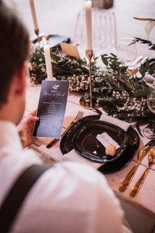 Hochzeitsessen Elegant Rustic Wedding Papeterie