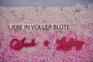 Edgy meets Pink: Rockige Hochzeit - Flowerwall