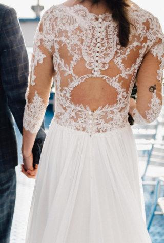 Hochzeit am See - Vintage Brautkleid