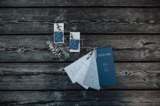 Hochzeit auf einem Schiff - Papeterie in blau und weiß