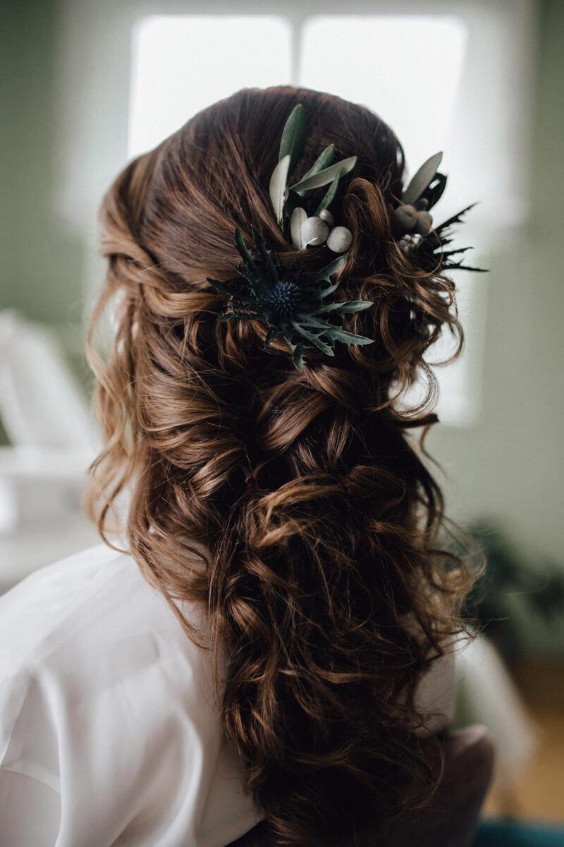 Hochzeit auf einem Schiff - Getting Ready Brautfrisur