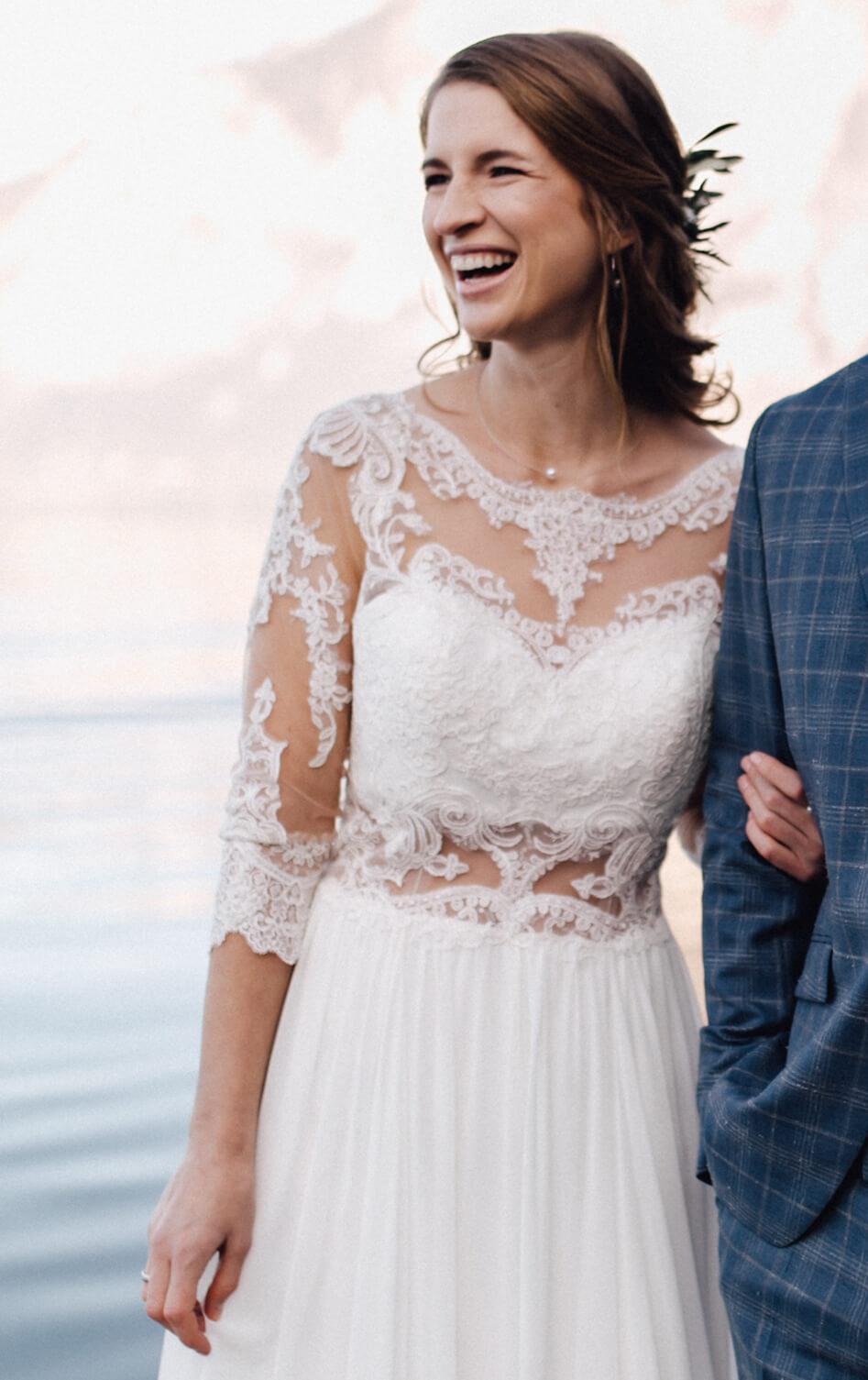 Hochzeit auf einem Schiff - Brautkleid