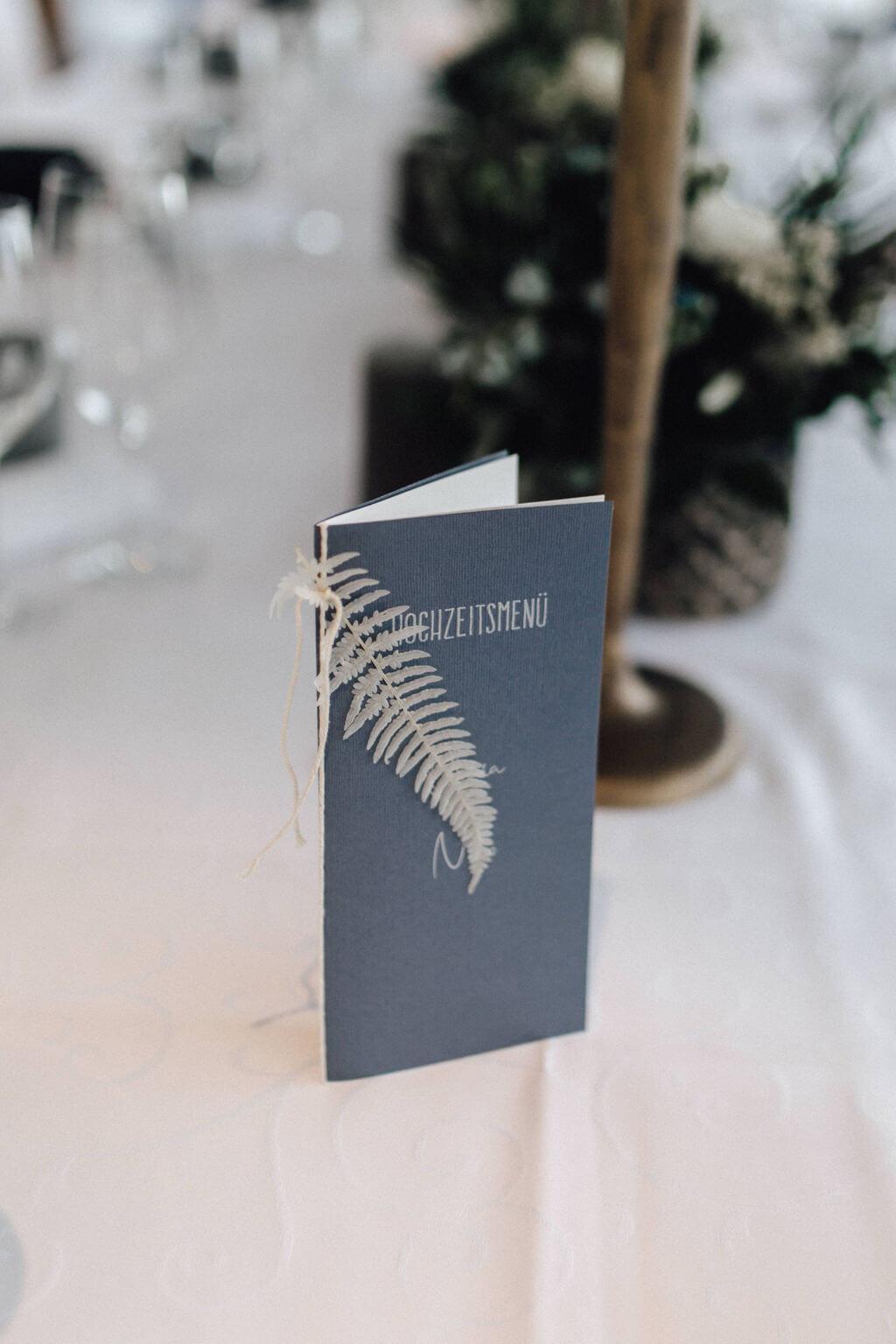 Hochzeit auf einem Schiff - Tischdeko Papeterie