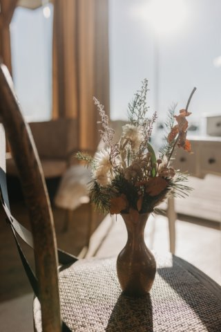 Hochzeit in den Bergen: winterlicher Blumenstrauß