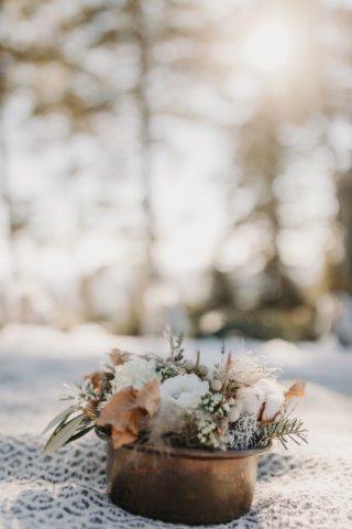 Hochzeit in den Bergen: Ringsträußchen