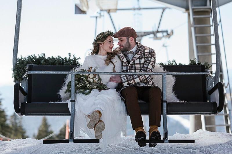 Hochzeit in den Bergen: Mit dem Sessellift zur Trauung