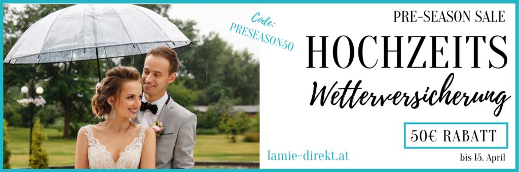 Hochzeitswetterversicherung für Regen bei der Hochzeit