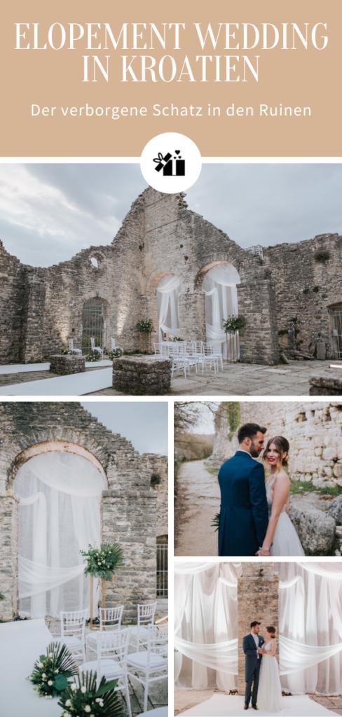 Elopement Wedding in Kroatien_Pinterest Collage