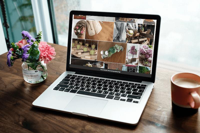 Hochzeitshomepage mit Bildergalerie