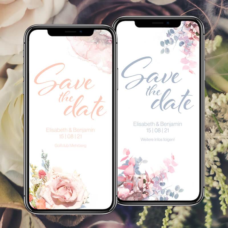 Save the Date via Hochzeitshomepage digital verschicken