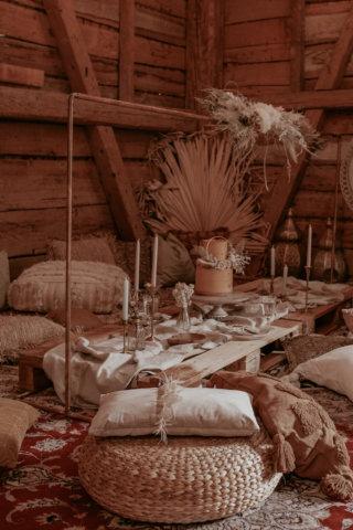 Wedding an a Barn: Orientalisches Boho Picknick
