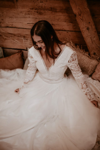 Wedding an a Barn: Orientalische Boho-Braut