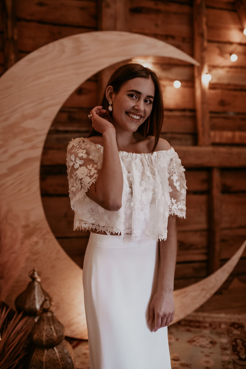Wedding an a Barn: Boho-Braut