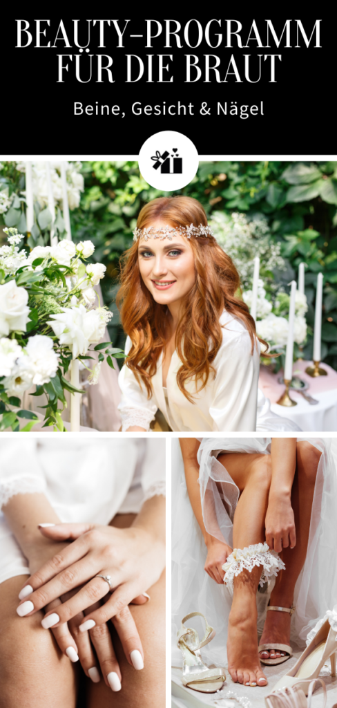 Beauty-Programm für die Braut - Pinterest Collage
