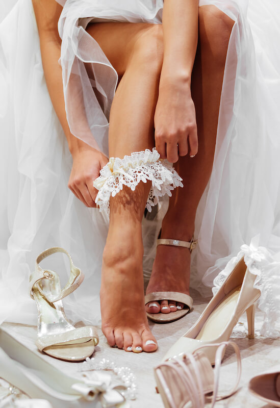 Beauty-Programm für die Braut - Beine