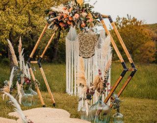 Rustic Boho meets Spring Vibes - Hochzeitsbogen