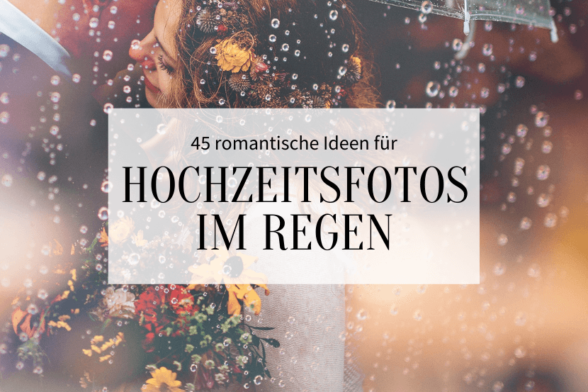 Hochzeitsfotos bei Regen - Titelbild