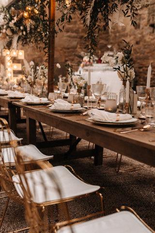 Highland-Hochzeit - Tischdeko