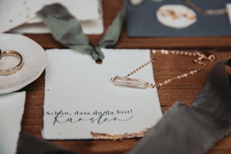Highland-Hochzeit - Papeterie in creme, grau und moosgrün