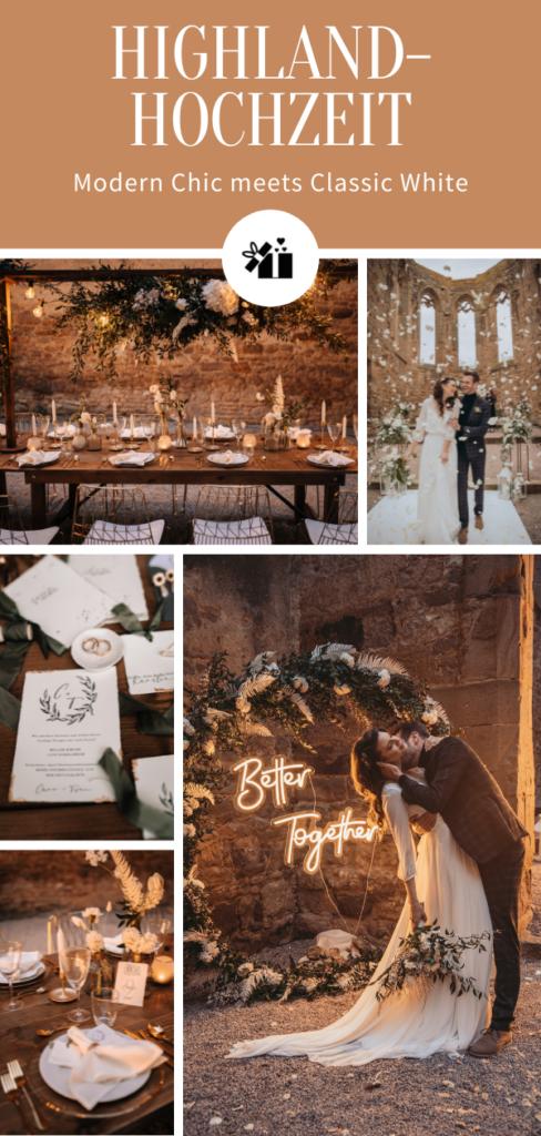 Highland-Hochzeit - Pinterest Collage