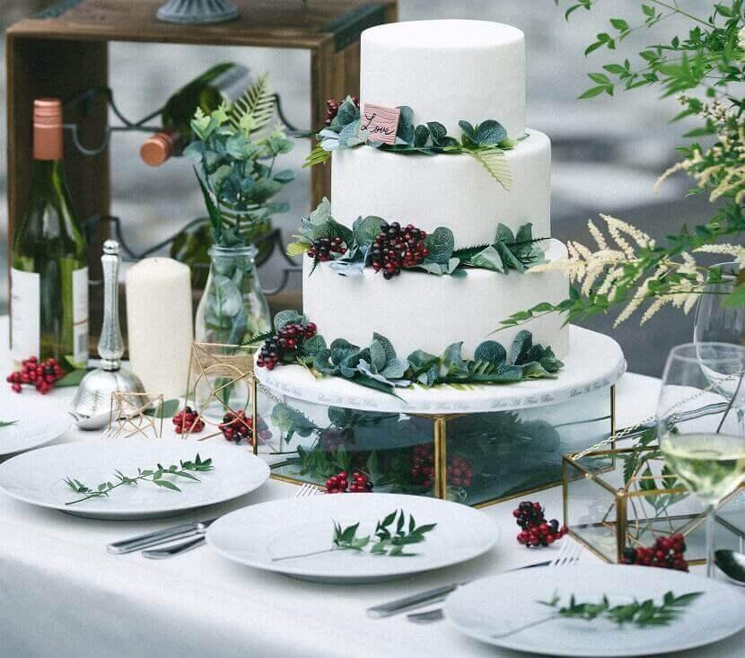 Hochzeitskosten sparen - Blattgrün verwenden