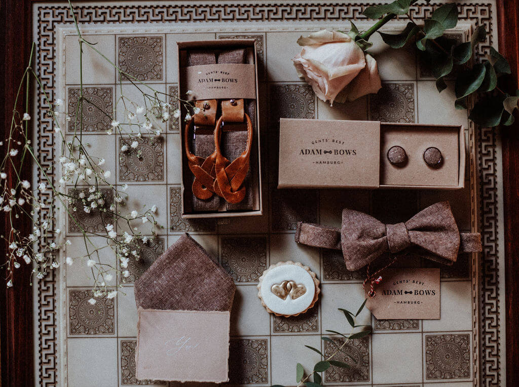 Modern Vintage Wedding - Bräutigam Accessoires