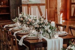 Modern Vintage Wedding - Tischdeko