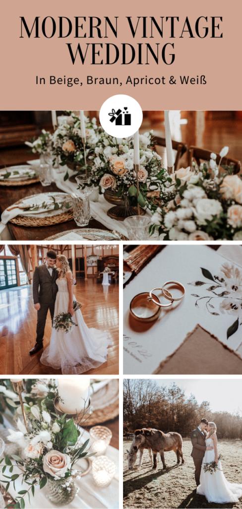 Modern Vintage Wedding-Pinterest Collage
