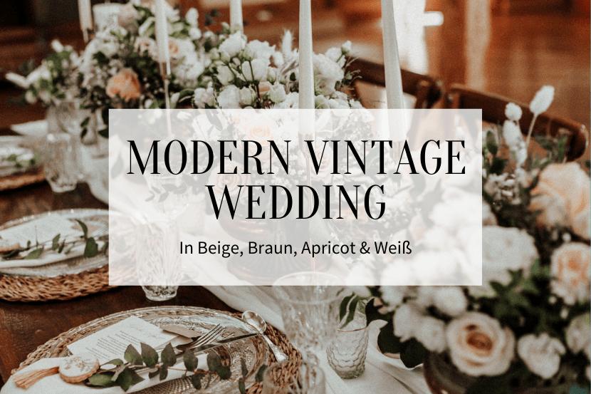 Modern Vintage Wedding-Titelbild