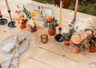 Rustic Boho meets Spring Vibes - Tischdeko