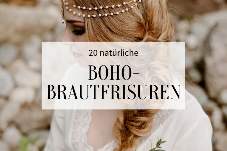 20 natürliche Boho Brautfrisuren - Hochzeitskiste
