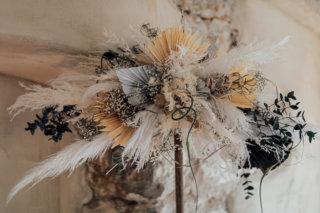 Cream White Boho Dream - Hochzeitsgesteck