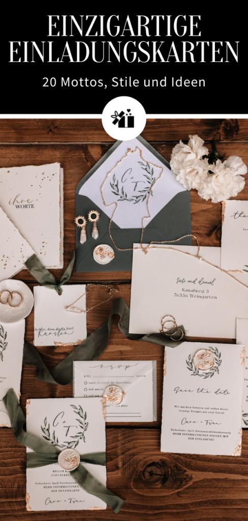 Einzigartige Einladungskarten - Pinterest Collage