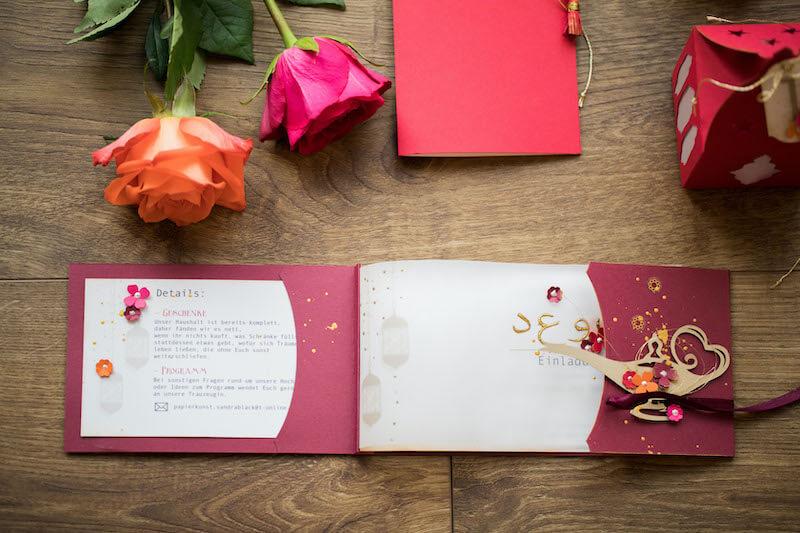 Einzigartige Hochzeitseinladungen - Aladdin Hochzeit