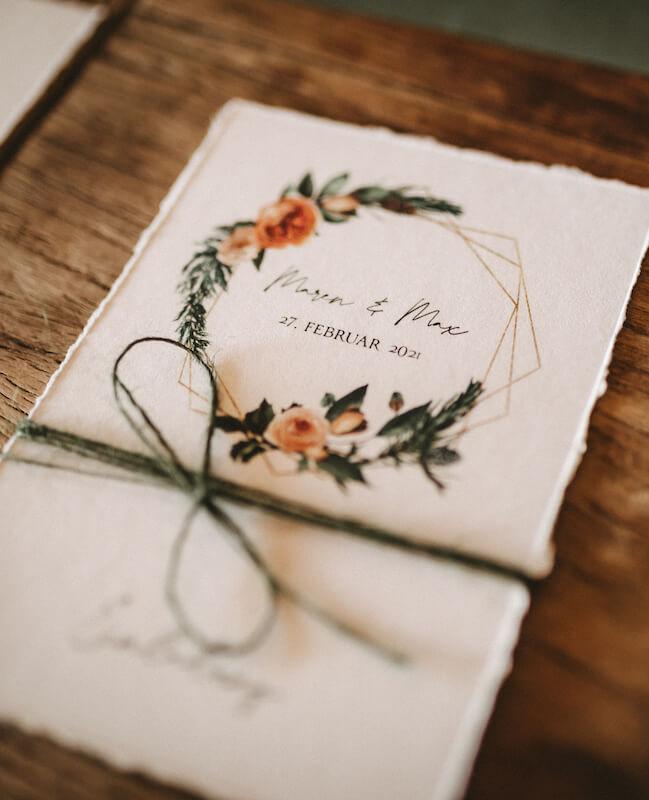 Einzigartige Hochzeitseinladungen - floral
