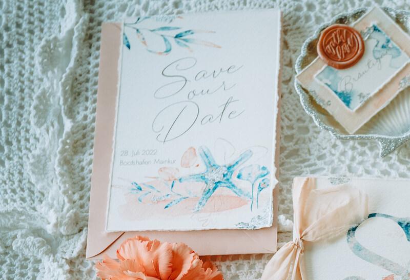 Einzigartige Hochzeitseinladungen - Arielle