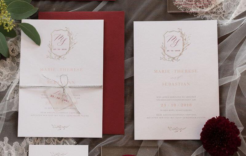 Einzigartige Hochzeitseinladungen - elegant