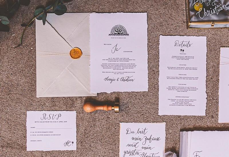 Einzigartige Hochzeitseinladungen - industrial